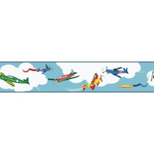York Wallcoverings Waverly Kids Cloud Cover Wallpaper Border