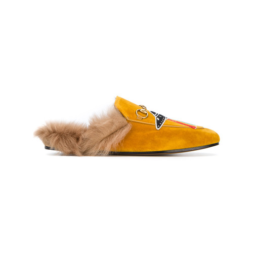 UFO embroidered Princetown slippers