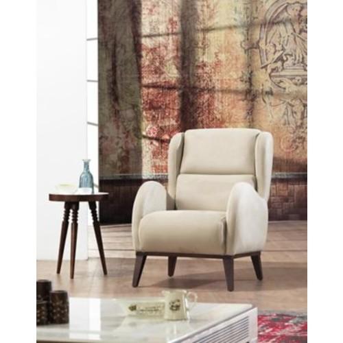Brayden Studio Danos Chesterfield Wingback Chair; Beige
