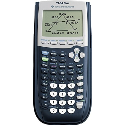 Texas Instruments TI-84 Plus Graphics Calculator, Black [Black, Standard]