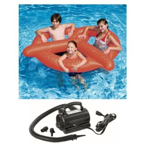 Swimline 90640 3 Swim Giant Pretzel Inflatable Pool Beach 64