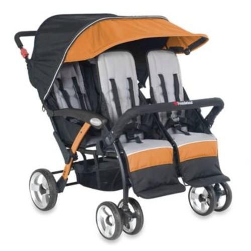 Foundations Quad Sport Splash of Color 4-Passenger Stroller in Orange