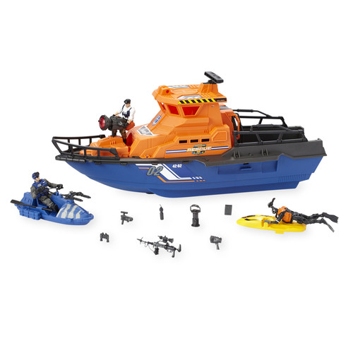 True Heroes Tactical Rescue Patrol Boat Set