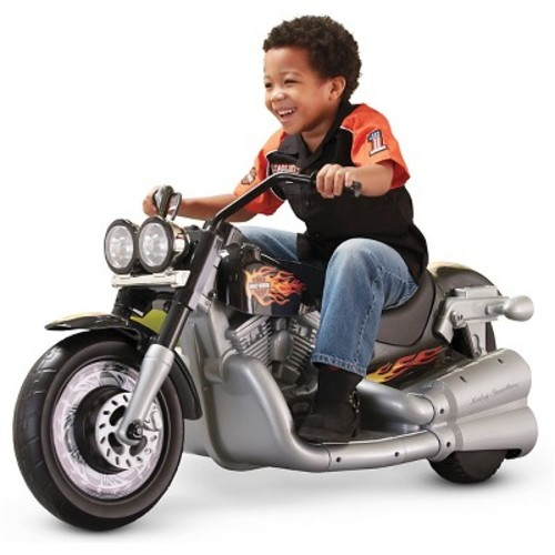 Fisher-Price Power Wheels Harley-Davidson Cruiser 12V Battery-Powered Ride-On