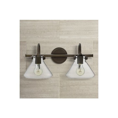 Hinkley Congress Clear Glass Oil Rubbed Bronze Bath Light