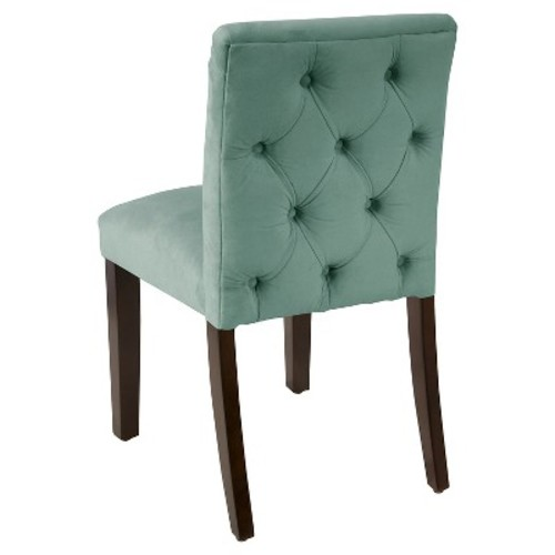 Tufted Dining Chair - Velvet Caribbean - Skyline Furniture