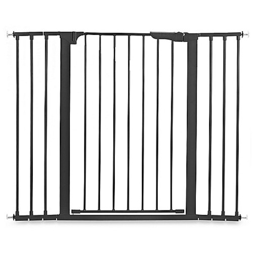 KidCo Gateway Extra Tall and Wide Auto Close Pressure Mount Gate in Black