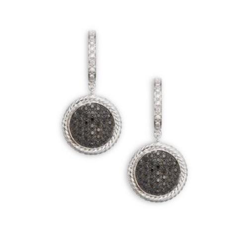 Alor - Diamond, 18K White Gold & Stainless Steel Drop Earrings