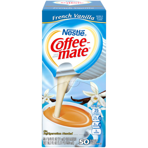 Coffee-mate NES35170BX French Vanilla Creamer, 0.375oz, 50/Box