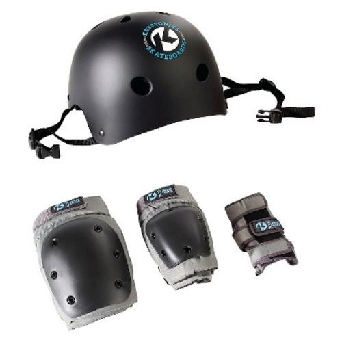 Kryptonics Skateboard 4-in-1 Skateboard Helmet and Pads Combo