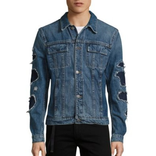 HELMUT LANG Distressed Denim Cropped Jacket