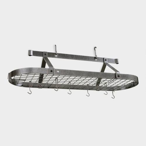 Enclume 4' Hammered Steel Ceiling Pot Rack