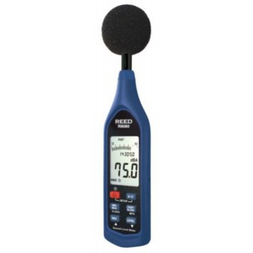REED R8080 Sound Level Meter, Datalogger with Bargraph, 30 to 130 dB