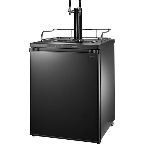 Insignia - 5.6 Cu. Ft. Dual Tap Beverage Cooler & Kegerator - Matte Black