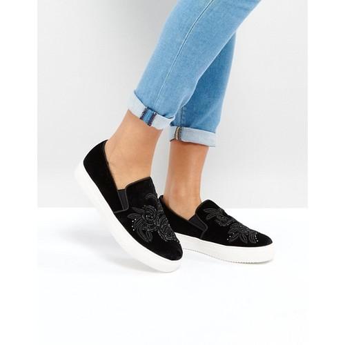 Look Velvet Embroidered Slip On Sneaker