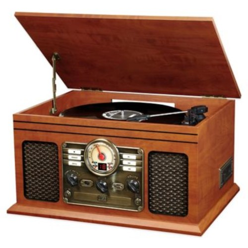 Victrola Wooden 6-in-1 Nostalgic 3-Speed Turntable with Bluetooth