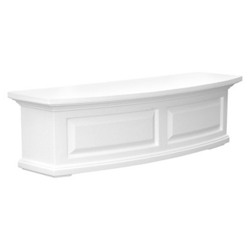 Mayne 4830W Nantucket Window Box, White, 3-Feet [White]