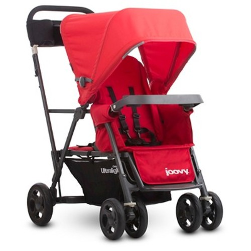 Joovy Caboose Ultralight Graphite Stand-On Tandem Stroller - Red