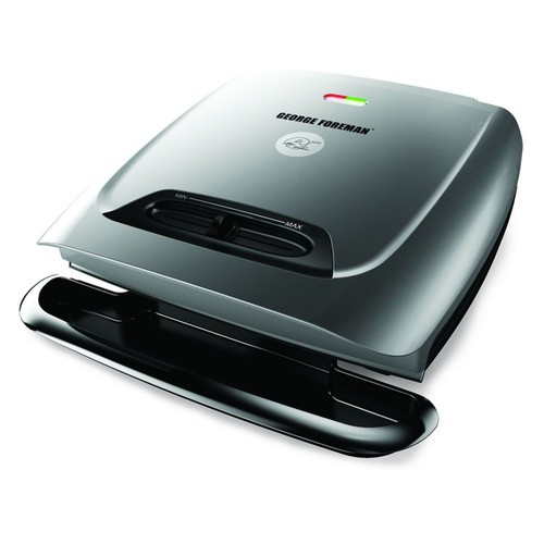 George Foreman 8 Serving Classic Plate Grill; Silver