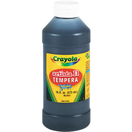 Crayola Artista II Washable Tempera Paint 16oz Black