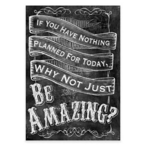 Be Amazing 2 Chalkboard Canvas Wall Art