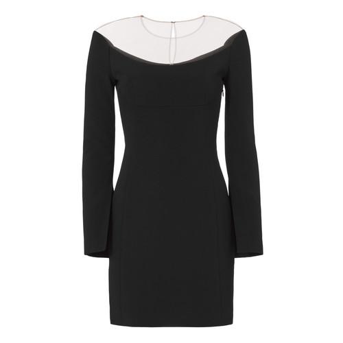 ALEXANDER WANG Illusion Wide Scoop Mini Dress