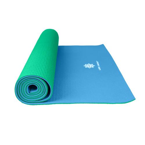 Life Energy 6mm Reversible Yoga Mat Eco Friendly - Emerald