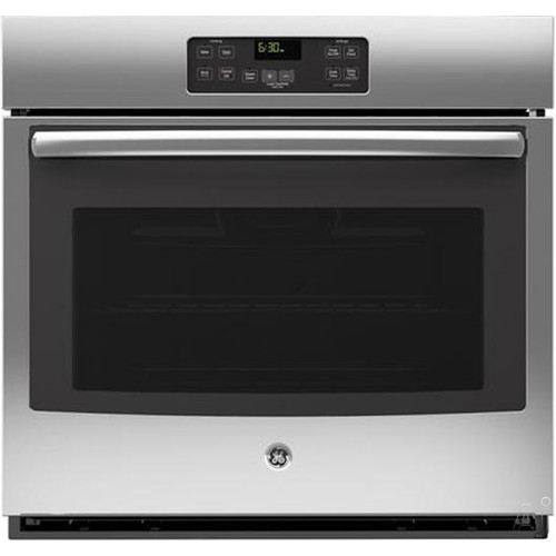GE 30 in. Single Electric Wall Oven Standard Cleaning with Steam in Stainless Steel JT1000SFSS