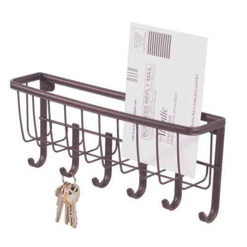 Interdesign Bronze Wall Mount Mail/Key Rack (58971)