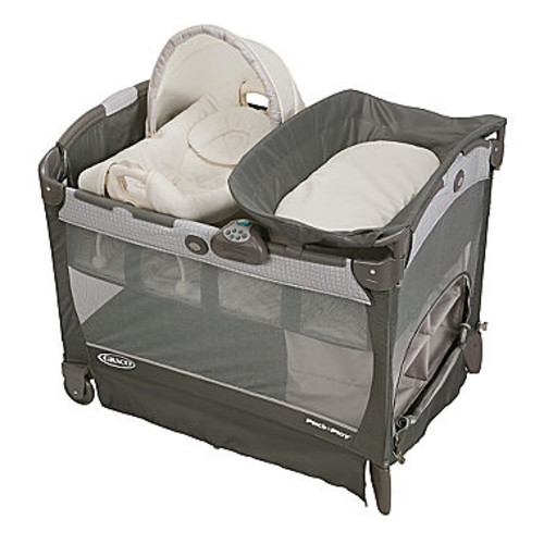 Graco Pack 'n Play Playard With Cuddle Cove Removable Vibrating Seat & Changing Stattion - Glacier