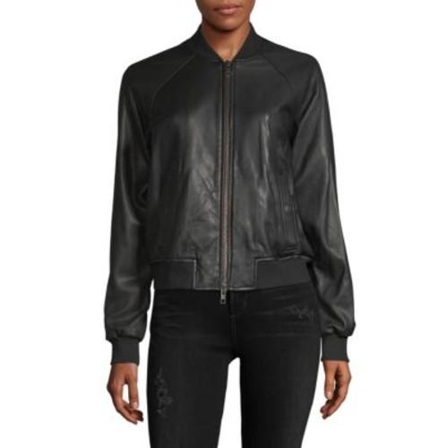 Vince - Leather Bomber Jacket