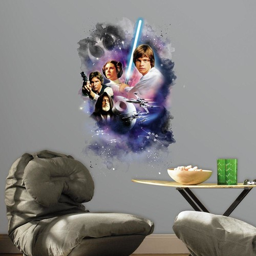 RoomMates 2.5 in. W x 27 in. H Star Wars Classic Mega 1-Piece Peel and Stick Giant Wall Decal