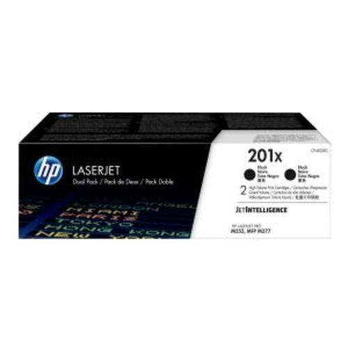 HP 201X - 2-pack - High Yield - black - original - LaserJet - toner cartridge (CF400XD) - for Color LaserJet Pro M252; LaserJet Pro MFP M274, MFP M277
