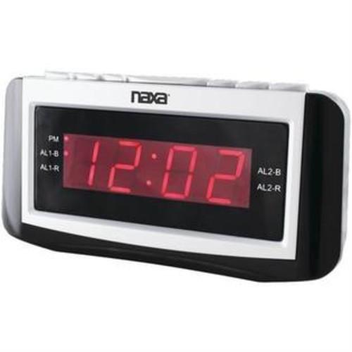 NAXA NRC171 Digital Alarm Clock with Large LED Display