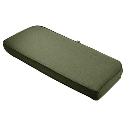 Montlake Fadesafe Patio Bench/Settee Contoured Back Cushion Set - Classic Accessories