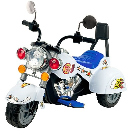 Lil' RiderT White Knight Motorcycle - Three Wheeler [80-YJ119W] -