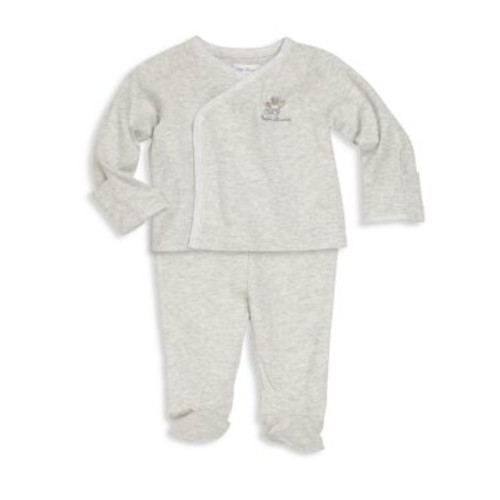 Baby's Two-Piece Kimono Top & Footed Pants Set