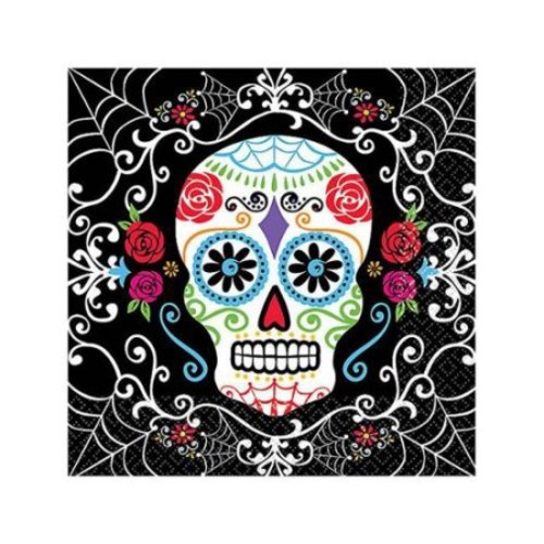 Day of the Dead Beverage Napkins (36 Pack) - Halloween Party Supplies