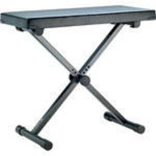 14076 Keyboard Bench with High Quality Fabric Seat (Black) (Extra Wide)