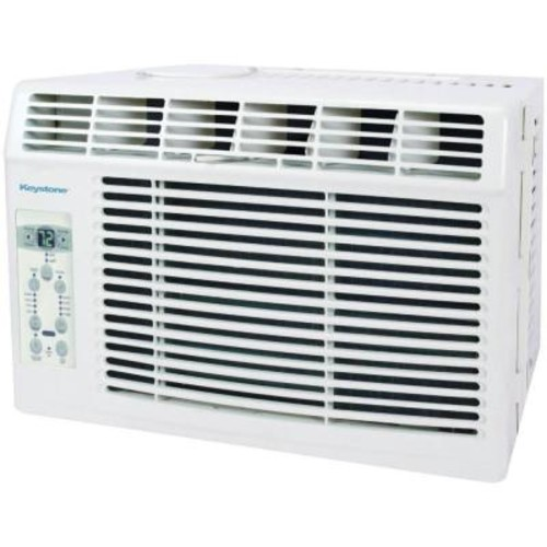 Keystone 5,000 BTU 115-Volt Window-Mounted Air Conditioner with Follow Me LCD Remote Control