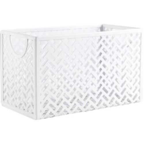 Staples White Zigzag Storage Box (26845)