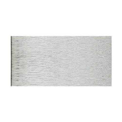 Fasade Waves Horizontal 96 in. x 48 in. Decorative Wall Panel in Brushed Aluminum