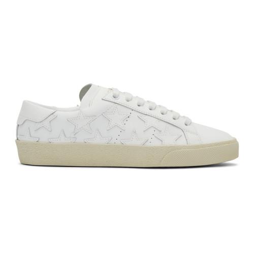 SAINT LAURENT White Court Classic Sl/06 California Sneakers