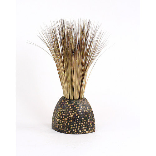 Distinctive Designs Silk Bear Grass in Textured Vase