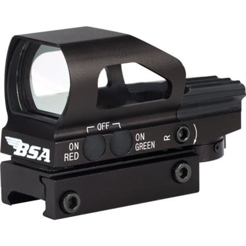 BSA Optics Digital Panoramic Reflex Sight, Red-Green Multi-Reticle DPMRGS