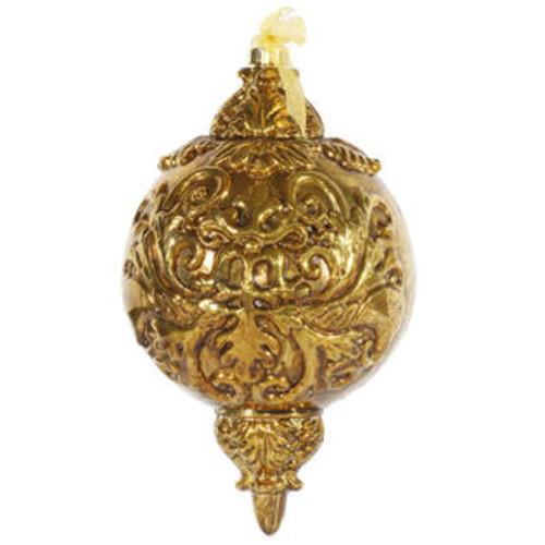 Vickerman 12 Antique Gold Ball Finial Orn 1/Bx Ball Ornament