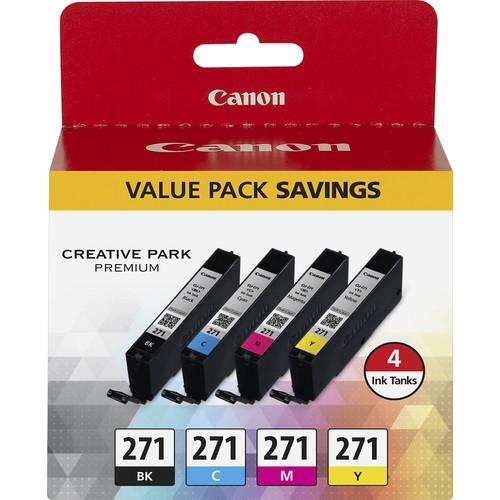 Canon - CLI-271 4-Pack Ink Cartridges - Black/Cyan/Yellow/Magenta
