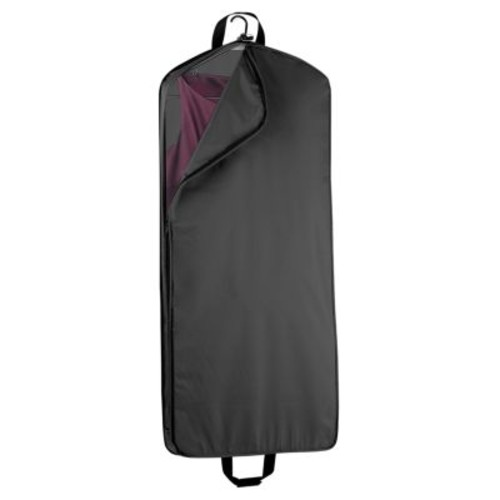 WallyBags 52 Inch Garment Bag with Pocket [Black, One Size]