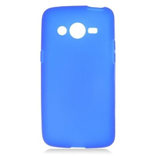 Insten Rubber Skin Gel Case For Samsung Galaxy Avant - Blue