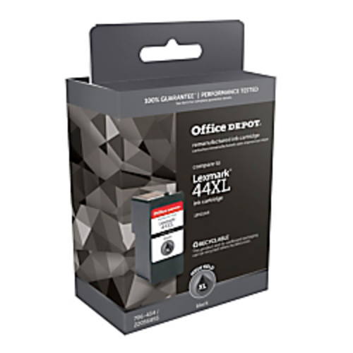 Office Depot Brand OD0144 (Lexmark 44) Remanufactured High-Yield Black Ink Cartridge